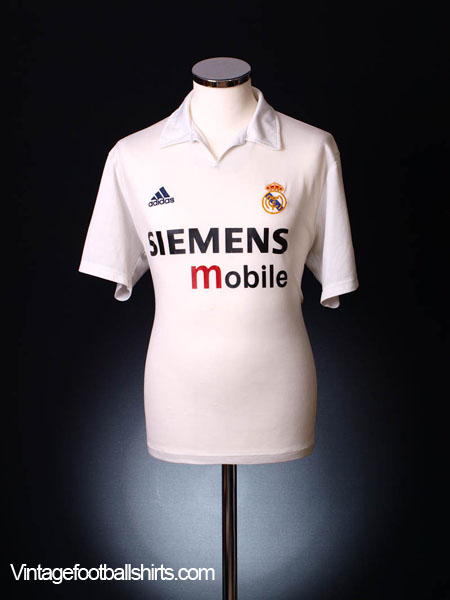 2002-03 Real Madrid Centenary Home Shirt M