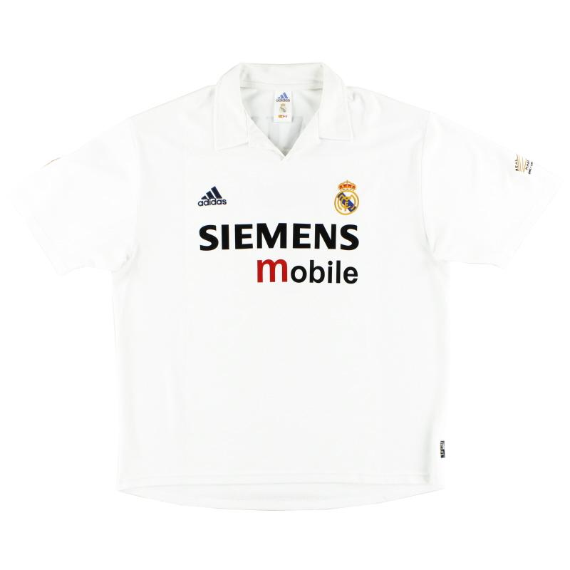 2002-03 Real Madrid Centenary Home Shirt S - 156653