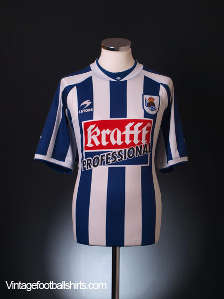 2002-03 Real Sociedad Home Shirt XXL
