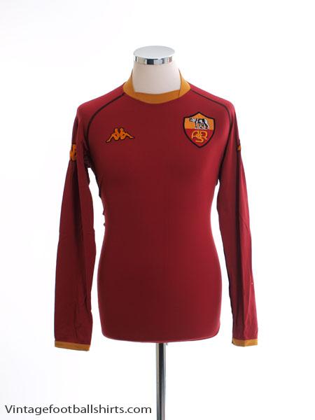 2002-03 Roma Home Shirt L/S L