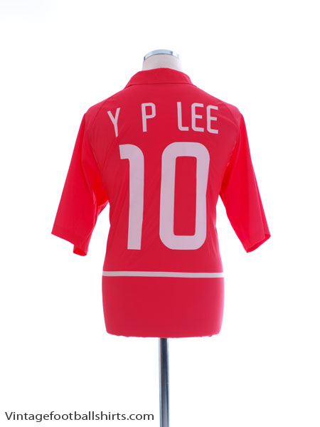 2002-03 South Korea Basic Home Shirt Y P Lee #10 XL - 182304