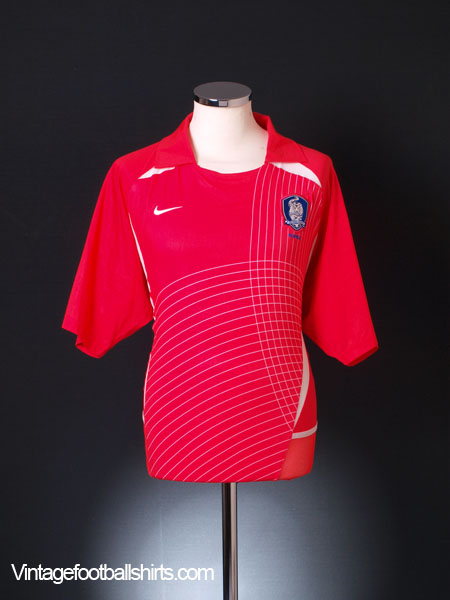 2002-03 South Korea Player Issue Home Shirt XL
