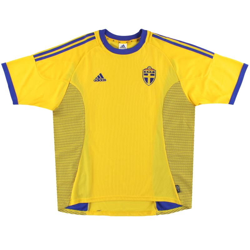 2002-03 Sweden adidas Home Shirt XXL - 299600