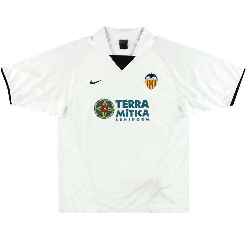 2002-03 Valencia Nike Basic Home Shirt M