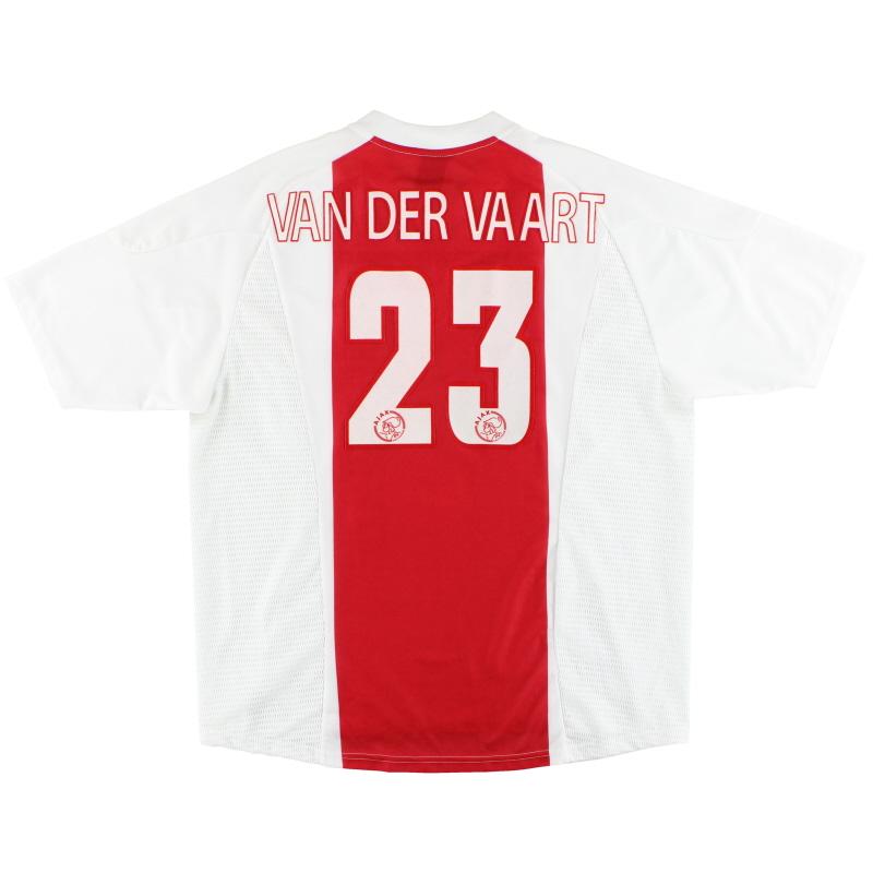 2002-04 Ajax adidas Home Shirt van der Vaart #23 XL