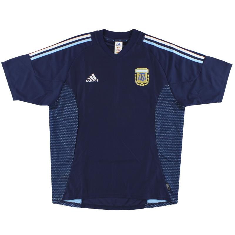 2002-04 Argentina adidas Away Shirt  L - 167308