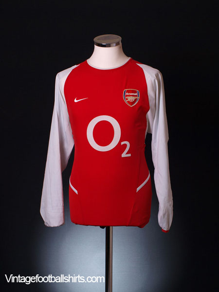 2002-04 Arsenal Home Shirt L/S XL