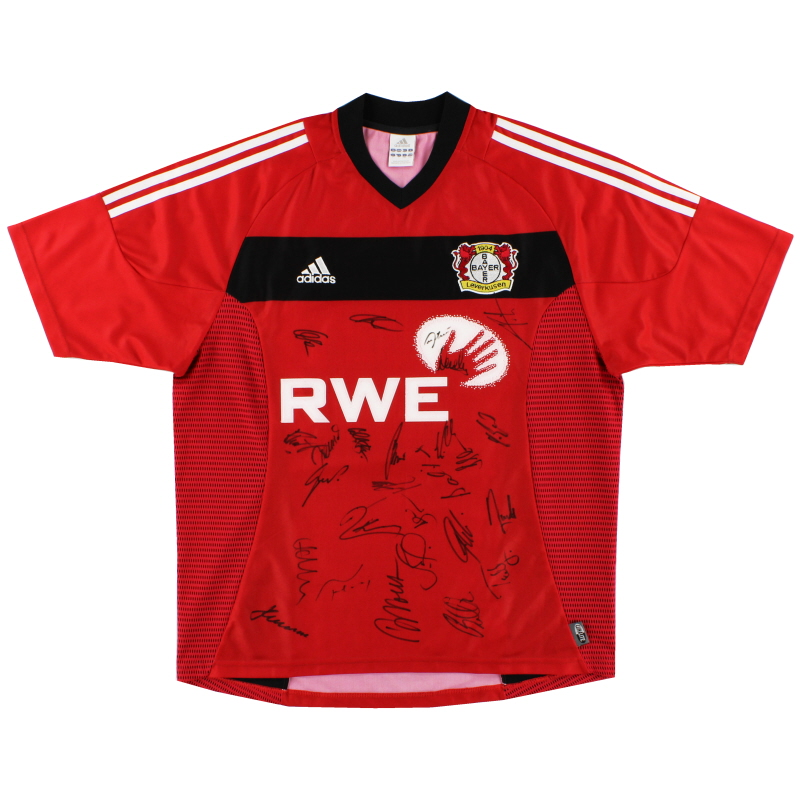 2002-04 Bayer Leverkusen 'Signed' Home Shirt L