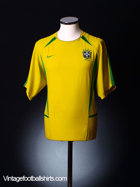 2002-04 Brazil Home Shirt *As New* L
