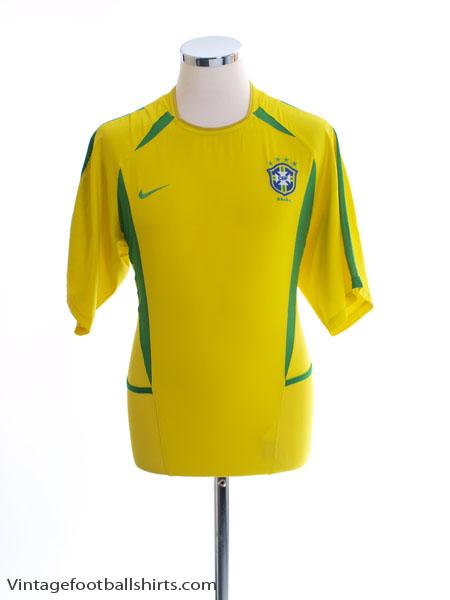 2002-04 Brazil Home Shirt XXL