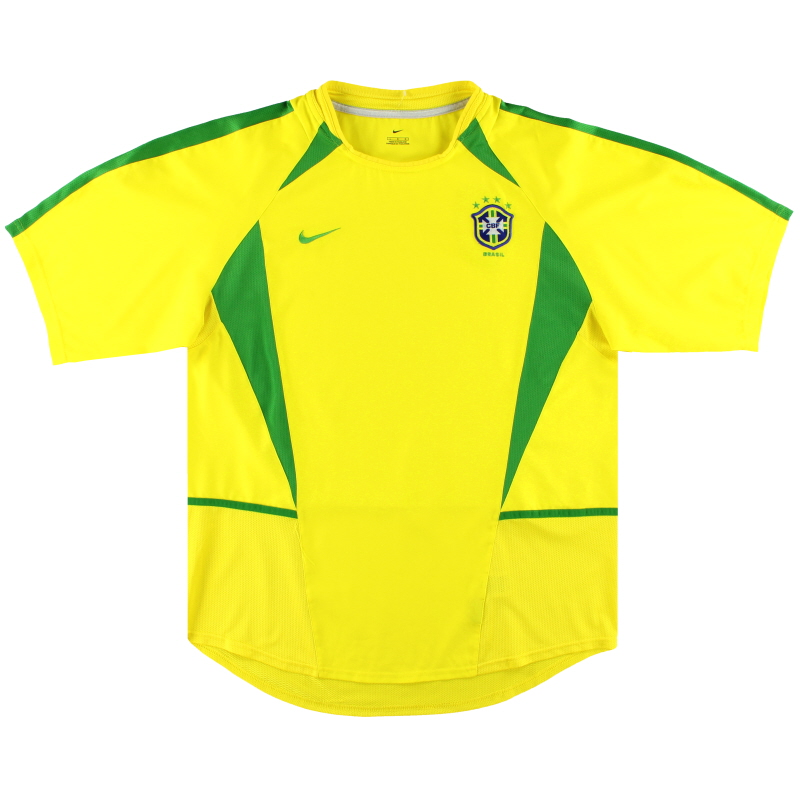 2002-04 Brazil Nike Home Shirt *Mint* L - 113382-729