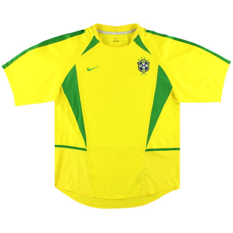 2002-04 Brazil Nike Home Shirt L - 113382-729