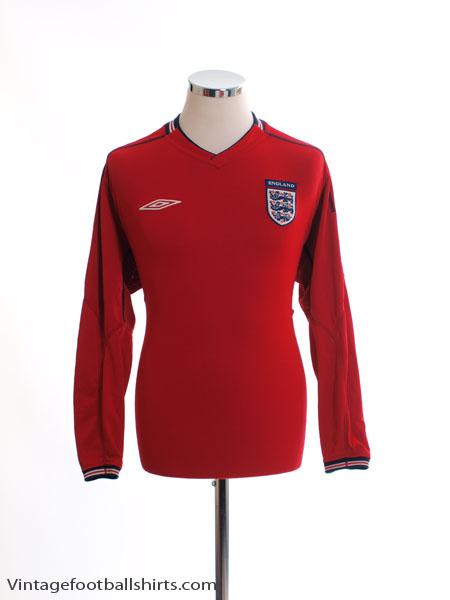 2002-04 England Away Shirt L/S L