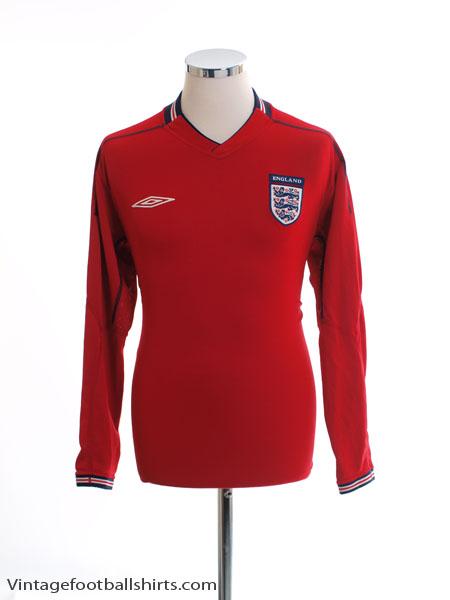 2002-04 England Away Shirt L/S M
