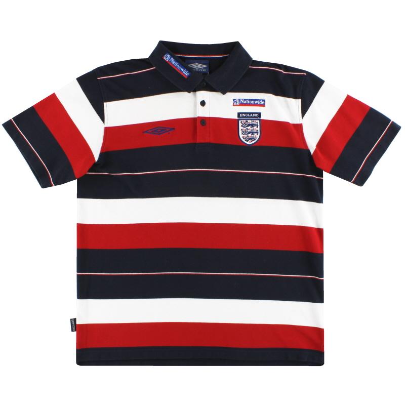 2002-04 England Umbro Polo Shirt L