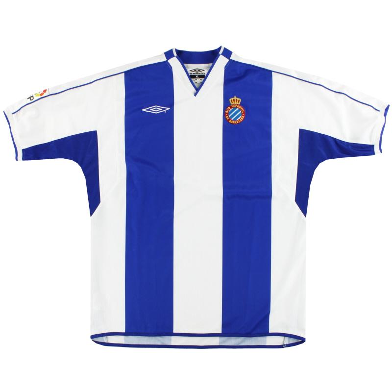 2002-04 Espanyol Umbro Home Shirt *Mint* XL
