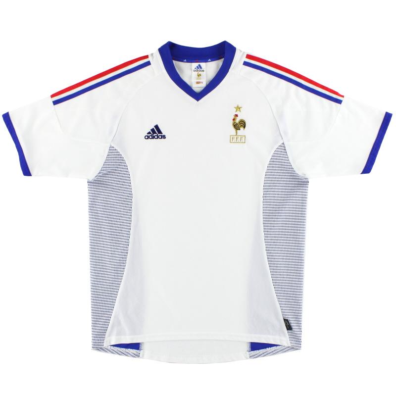 2002-04 France adidas Away Shirt S