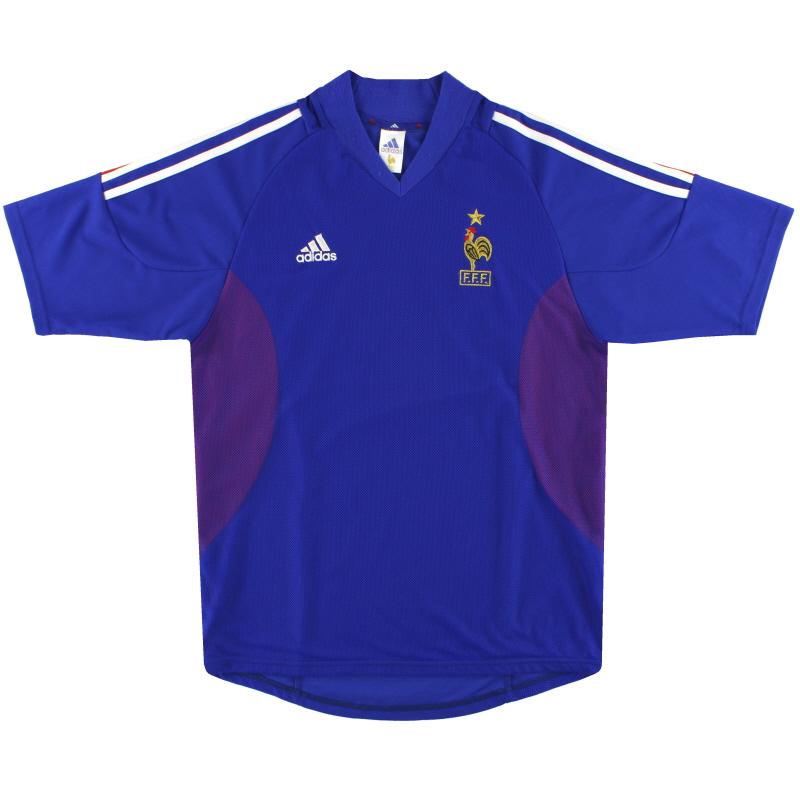 2002-04 France adidas Home Shirt M - 298742