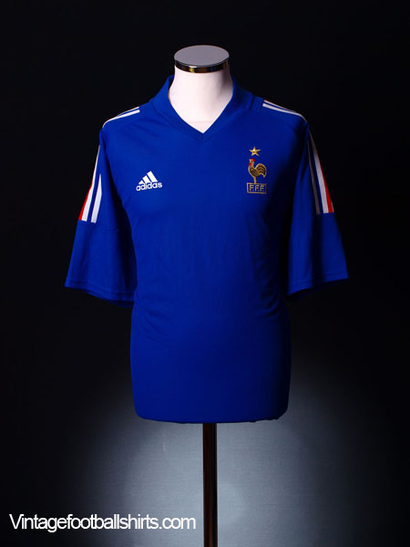 2002-04 France Home Shirt L