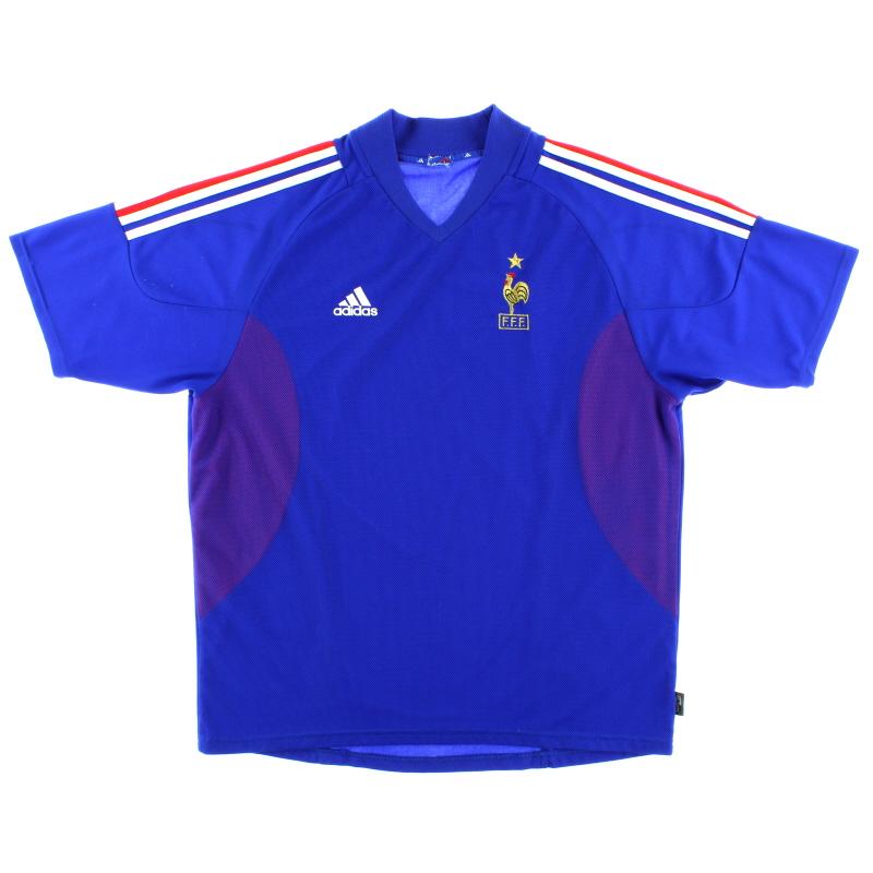 2002-04 France Home Shirt *Mint* L