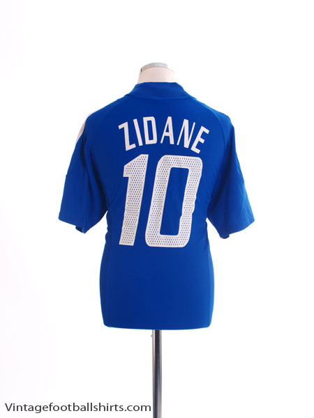 2002-04 France Home Shirt Zidane #10 M