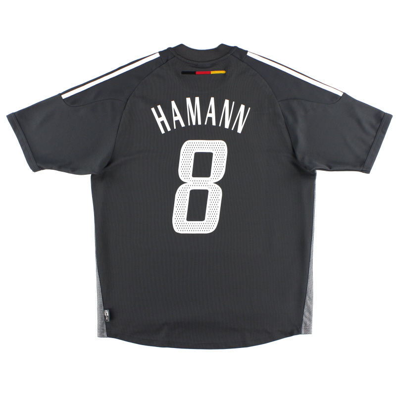 2002-04 Germany Away Shirt Hamann #8 *Mint* L