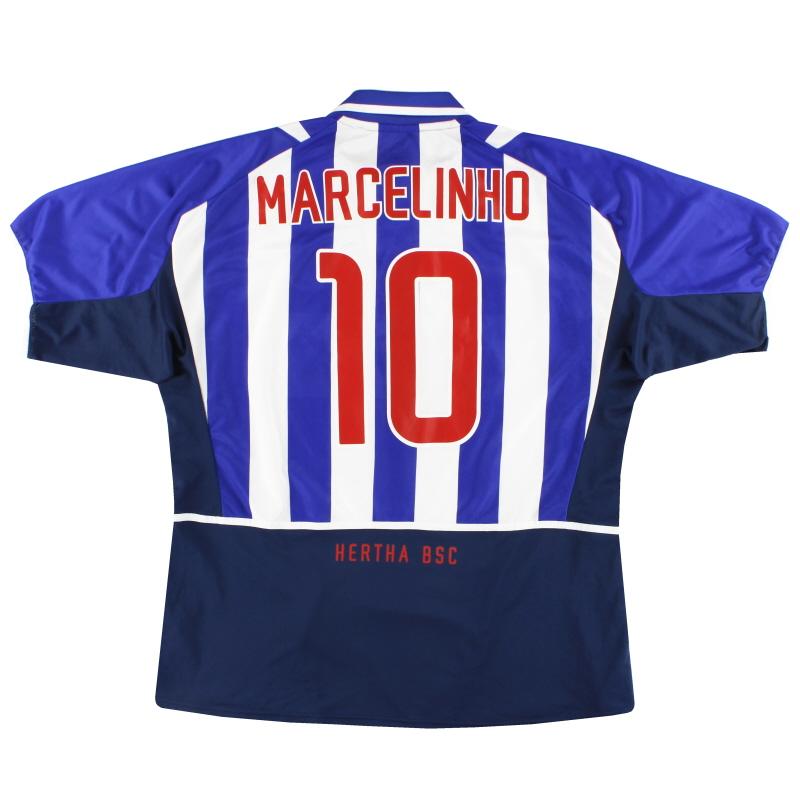 2002-04 Hertha Berlin Nike Home Shirt Marcelinho #10 XXL - 185276489