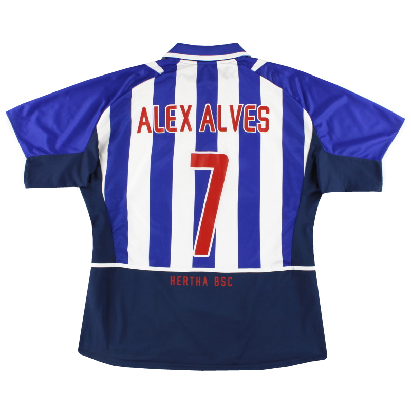 2002-04 Hertha Berlin Nike Home Shirt Alex Alves #7 L - 185276