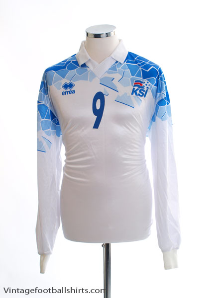 542ec38fd 2002-04 Iceland Match Issue Away Shirt  9 L S XL for sale