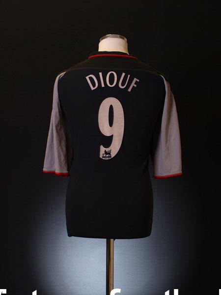 2002-04 Liverpool Away Shirt Diouf #9 XL