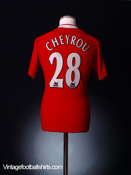 2002-04 Liverpool Home Shirt Cheyrou #28 S