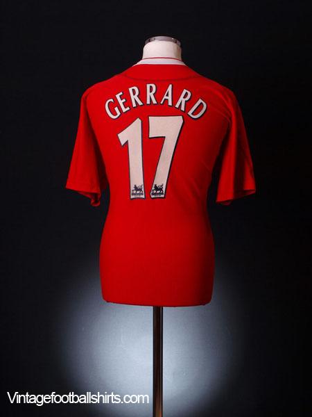 2002-04 Liverpool Home Shirt Gerrard #17 S