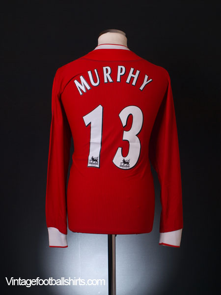 2002-04 Liverpool Home Shirt Murphy #13 L/S *Mint* M