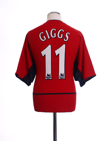 2002-04 Manchester United Home Shirt Giggs #11 L