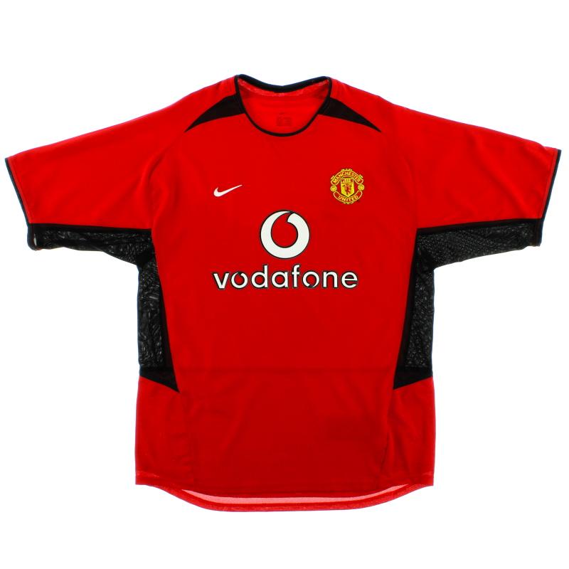 2002-04 Manchester United Home Shirt *Mint* XL - 184947