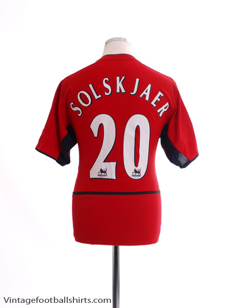 2002-04 Manchester United Home Shirt Solskjaer #20 L - 184947