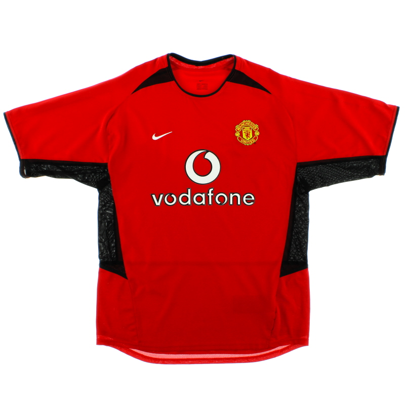 2002-04 Manchester United Home Shirt S - 184947