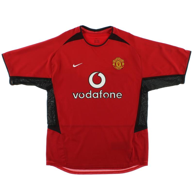 2002-04 Manchester United Home Shirt XL - 184947