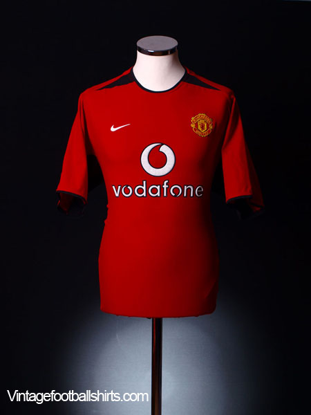 2002-04 Manchester United Home Shirt L.Boys