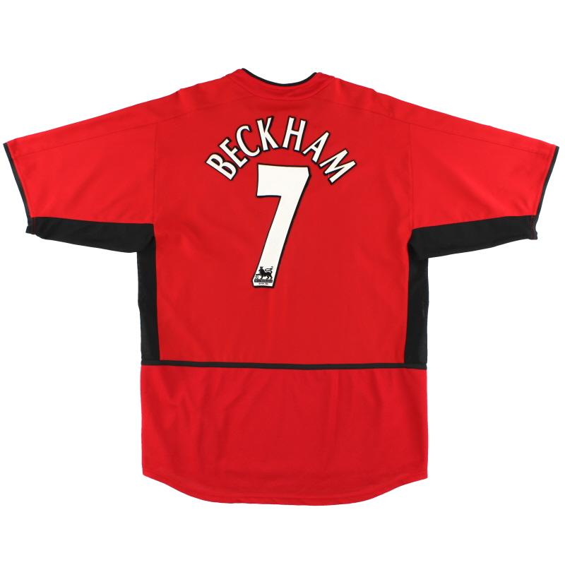 2002-04 Manchester United Nike Home Shirt Beckham #7 *Mint* M - 184947