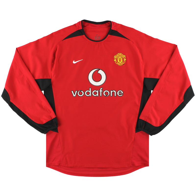 2002-04 Manchester United Nike Home Shirt L/S M - 184948