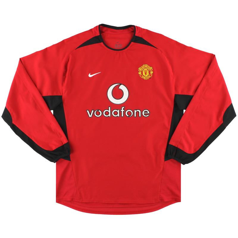 2002-04 Manchester United Nike Home Shirt L/S L - 184948
