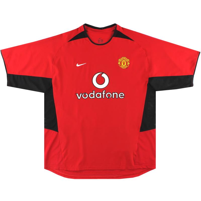 2002-04 Manchester United Nike Home Shirt L - 184947