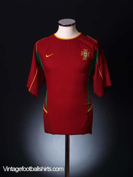 2002-04 Portugal Home Shirt *Mint* XL