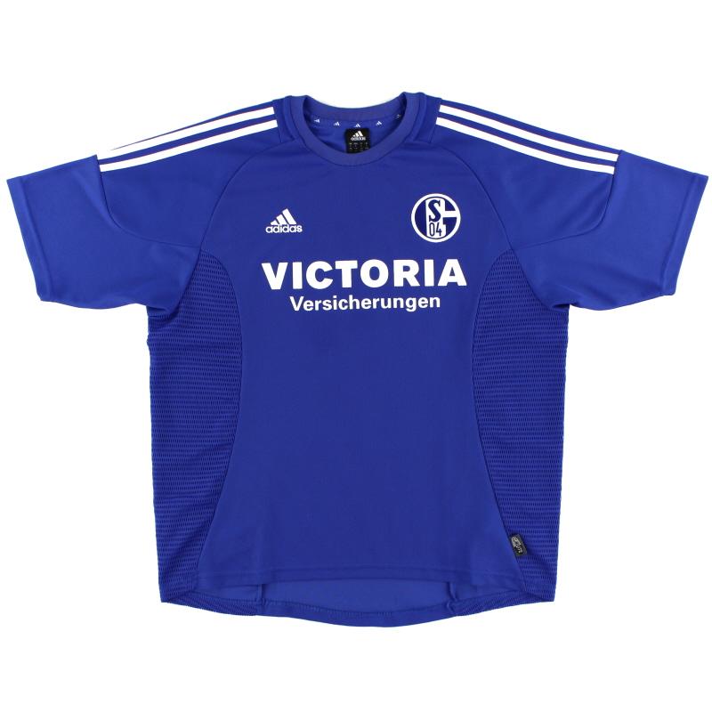 2002-04 Schalke Home Shirt XL.Boys