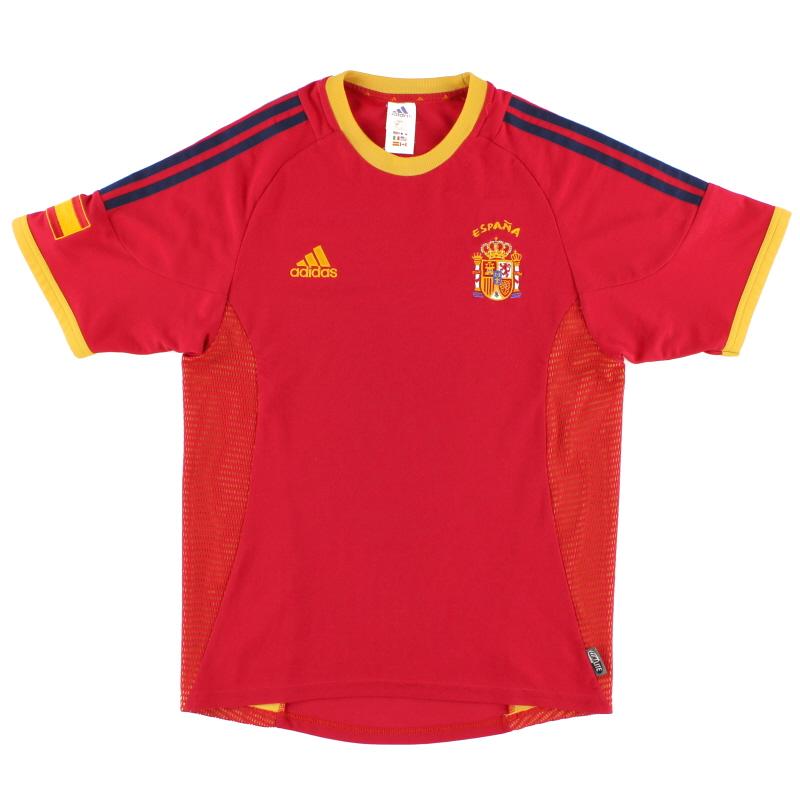2002-04 Spain adidas Home Shirt L - 298547