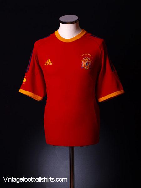 2002-04 Spain Home Shirt XXL