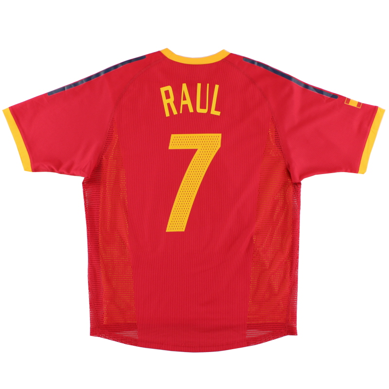 2002-04 Spain Player Issue Home Shirt Raul #7 *Mint* M - 298546