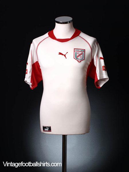 2002-04 Tunisia Home Shirt L