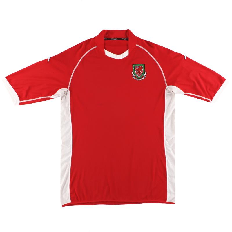 2002-04 Wales Kappa Home Shirt XXL